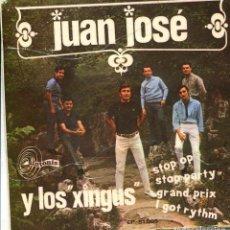 Discos de vinilo: JUAN JOSE Y LOS XINGUS / STOP OP / I GOT RYTHM + 2 (EP 1967). Lote 140827870