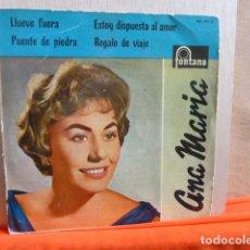 Discos de vinilo: ANA MARIA -LLUEVE FUERA -Y 3 MAS. Lote 140831842