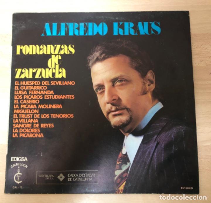 DISCO VINILO LP ALFREDO KRAUS ROMANZAS DE ZARZUELA (Música - Discos - Singles Vinilo - Clásica, Ópera, Zarzuela y Marchas)