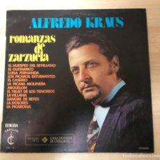 Discos de vinilo: DISCO VINILO LP ALFREDO KRAUS ROMANZAS DE ZARZUELA. Lote 140836098
