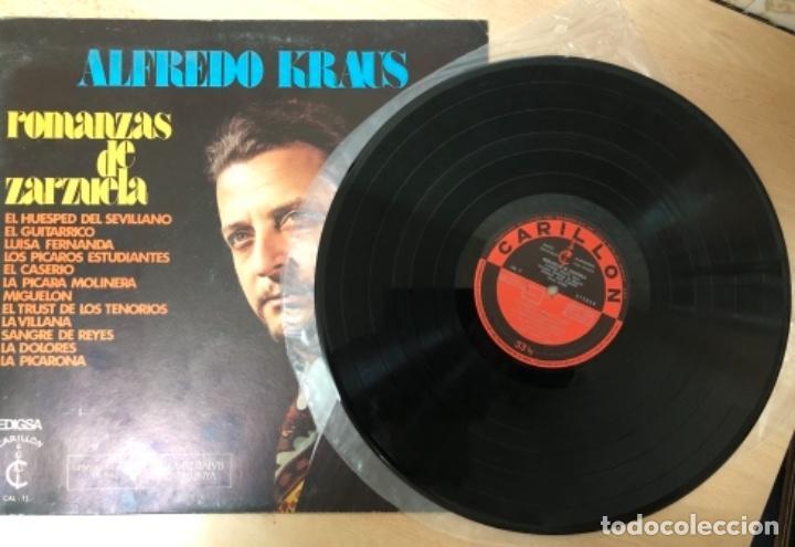 Discos de vinilo: DISCO VINILO LP ALFREDO KRAUS ROMANZAS DE ZARZUELA - Foto 2 - 140836098