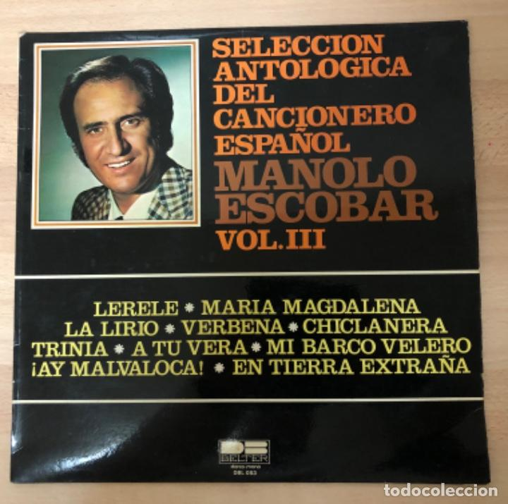 DISCO VINILO LP MANOLO ESCOBAR (Música - Discos de Vinilo - Maxi Singles - Flamenco, Canción española y Cuplé)