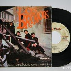 Discos de vinilo: DISCO EP DE VINILO - LOS BRINCOS / BORRACHO, SOLA, TU ME DIJISTE ADIOS, ERES TU - ZAFIRO - AÑO 1965. Lote 140840293
