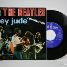 Discos de vinilo: DISCO SINGLE DE VINILO - THE BEATLES / HEY JUDE, REVOLUTION - ODEON - AÑO 1968. Lote 140840728