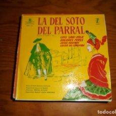 Discos de vinilo: LA DEL SOTO DEL PARRAL. LUIS SAGI-VELA, DOLORES PEREZ. EP. ZAFIRO, 1959. IMPECABLE. Lote 140846410
