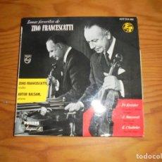 Discos de vinilo: TEMAS FAVORITOS DE ZINO FRANCESCATTI : KREISLER, MASSENET, CHABRIER. EP. PHILIPS, 1968 . IMPECABLE. Lote 140849942