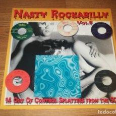 Discos de vinilo: NASTY ROCKABILLY LP VOL.8, 50S WILD ROCKER/SHARP 666/11-ROCK'N'ROLL /SURF *MINT . Lote 140865654