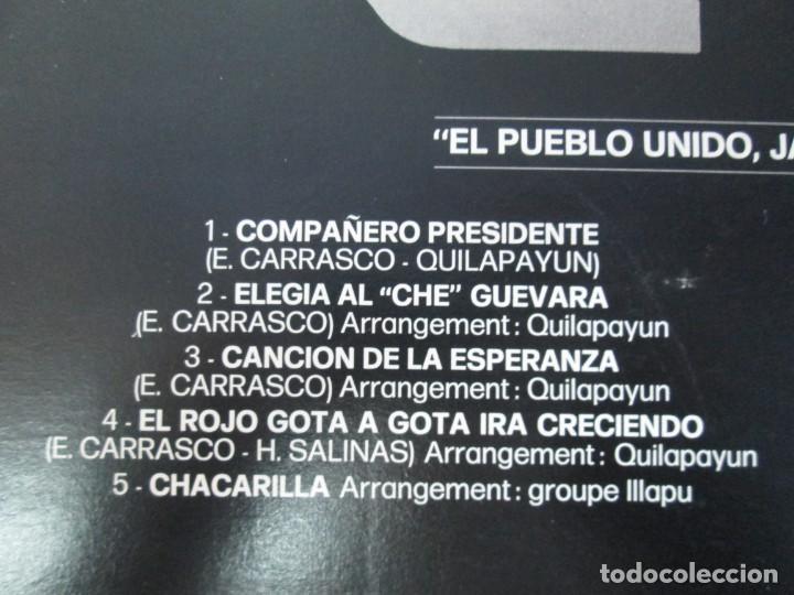 Discos de vinilo: QUILAPAYUN. 4 LP VINILO. EL PUEBLO UNIDO JAMAS SERA VENCIDO. CANTATE POPULAIRE. CUECA DE LA LIBERTAD - Foto 28 - 175631408