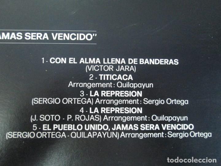 Discos de vinilo: QUILAPAYUN. 4 LP VINILO. EL PUEBLO UNIDO JAMAS SERA VENCIDO. CANTATE POPULAIRE. CUECA DE LA LIBERTAD - Foto 29 - 175631408