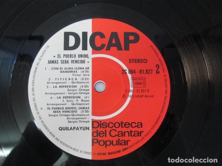 Discos de vinilo: QUILAPAYUN. 4 LP VINILO. EL PUEBLO UNIDO JAMAS SERA VENCIDO. CANTATE POPULAIRE. CUECA DE LA LIBERTAD - Foto 31 - 175631408