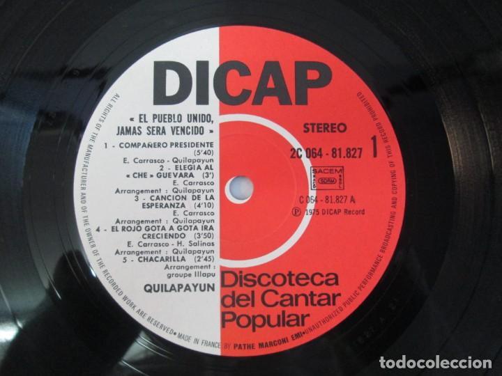 Discos de vinilo: QUILAPAYUN. 4 LP VINILO. EL PUEBLO UNIDO JAMAS SERA VENCIDO. CANTATE POPULAIRE. CUECA DE LA LIBERTAD - Foto 33 - 175631408
