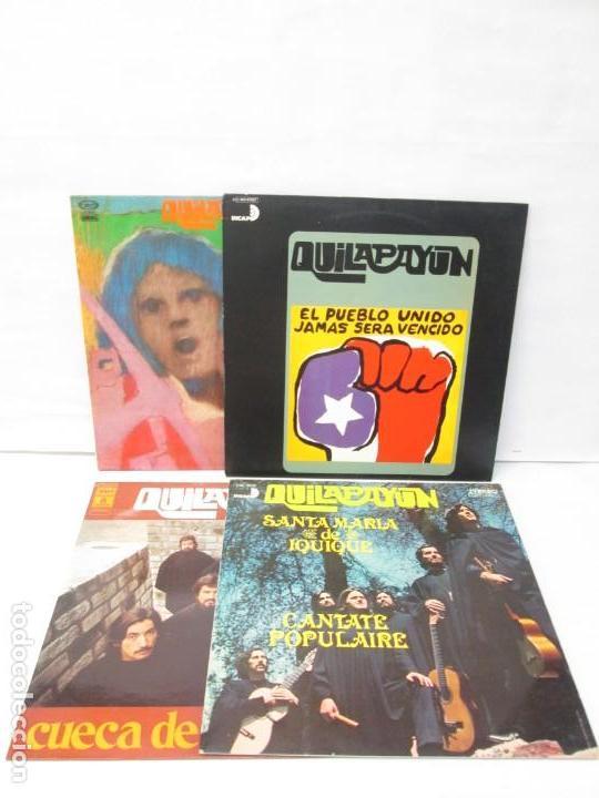 QUILAPAYUN. 4 LP VINILO. EL PUEBLO UNIDO JAMAS SERA VENCIDO. CANTATE POPULAIRE. CUECA DE LA LIBERTAD (Música - Discos - LP Vinilo - Country y Folk)
