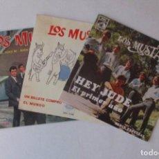 Disques de vinyle: 3 EP DE LOS MUSTANG. Lote 140871318