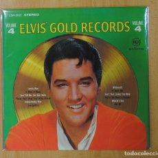 Discos de vinilo: ELVIS PRESLEY - ELVIS´ GOLD RECORDS VOLUME 4 - LP. Lote 140876537