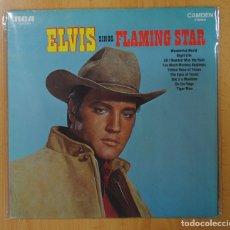 Discos de vinilo: ELVIS - ELVIS SINGS FLAMING STAR - LP. Lote 140877964