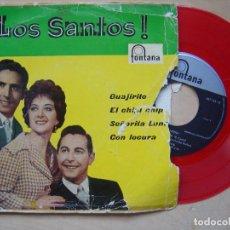 Discos de vinilo: LOS SANTOS - GUAJIRITO - EP 1960 - FONTANA - VINILO ROJO. Lote 140882438