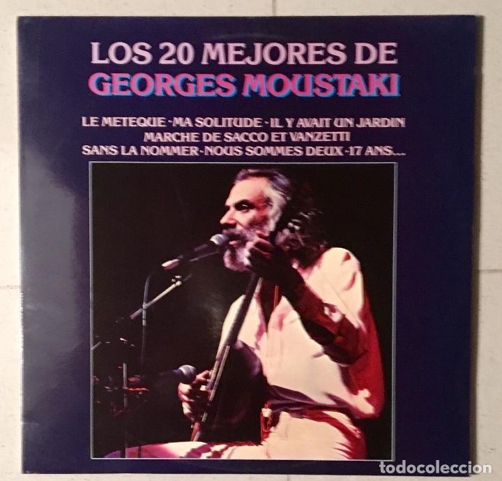 GEORGE MOUSTAKI - DOBLE LP (COMO NUEVO) (Música - Discos - LP Vinilo - Canción Francesa e Italiana)