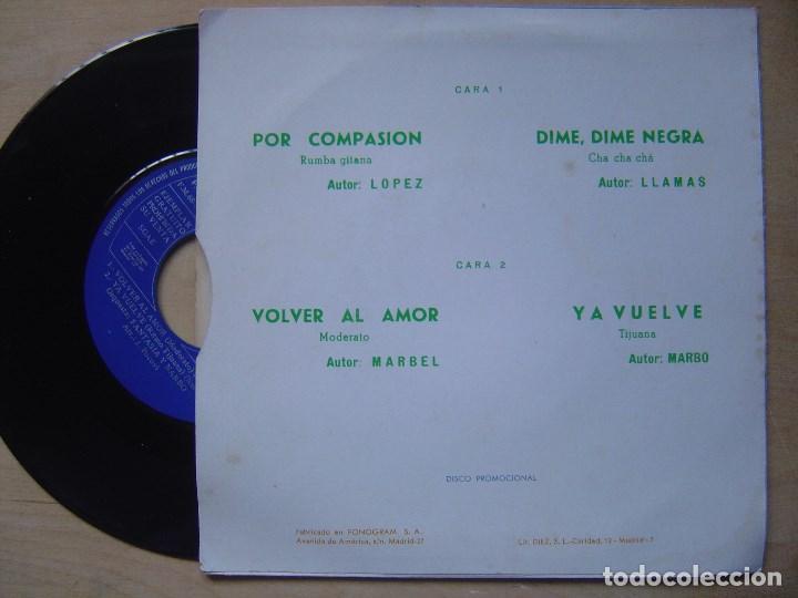 Discos de vinilo: ORQUESTA FANTASIA Y NARBO - por compasion - EP PROMOCIONAL 1971 - BCD - Foto 2 - 140885926
