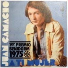 Discos de vinilo: VINILO SINGLE JUAN CAMACHO, A TI MUJER, LORENA. Lote 140886074