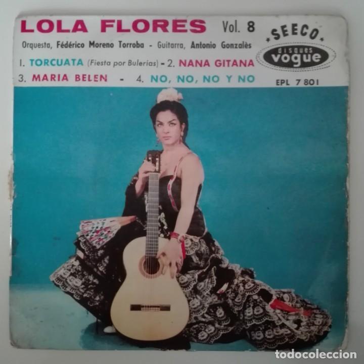 LOLA FLORES VOL 8 TORCUATA / NANA GITANA EP SEECO FRANCIA TORROBA ANTONIO GONZALEZ (Música - Discos de Vinilo - EPs - Flamenco, Canción española y Cuplé)