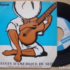 Discos de vinilo: TRIO LOS TRES HIDALGOS - EL HUMAHAQUENO - EP FRANCES. Lote 140887734