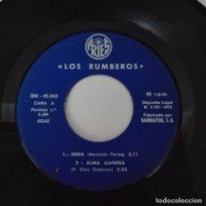 Discos de vinilo: LOS RUMBEROS - INDIA / ALMA LLANERA +2 EP 1972 ARIES ISLAS CANARIAS SANTA CRUZ DE TENERIFE. Lote 140888494