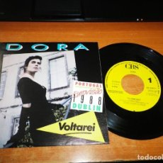 Discos de vinilo: DORA I´LL COME BACK EUROVISION PORTUGAL 1988 SINGLE VINILO PROMO ESPAÑOL RARO 1 TEMA. Lote 140912742