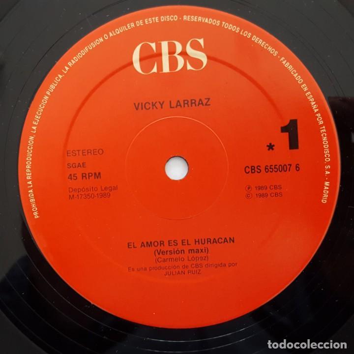 Vinyl-Schallplatten: MAXI / VICKY LARRAZ / EL AMOR ES EL HURACAN - Foto 3 - 140916358