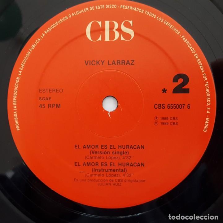 Vinyl-Schallplatten: MAXI / VICKY LARRAZ / EL AMOR ES EL HURACAN - Foto 4 - 140916358