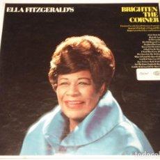 Discos de vinilo: ELLA FITZGERALD ( BRIGHTEN THE CORNER ) ENGLAND-1967 LP33 CAPITOL RECORDS. Lote 140918346