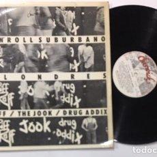 Discos de vinilo: DISCO LP VINILO RIFF RAFF / THE JOOK / DRUG ADDIX ROCK 'N' ROLL SUBURBANO DE LONDRES 1978. Lote 140926402