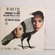 Discos de vinilo: JEANETTE. PORQUE TE VAS. BANDA SONORA ORIGINAL DE LA PELICULA CRIA CUERVOS. LP VINILO. HISPAVOX 1983. Lote 140926406