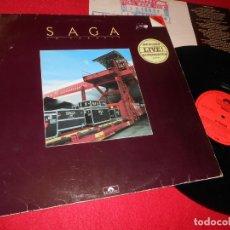 Discos de vinilo: SAGA IN TRANSIT LP 1982 POLYDOR EDICION ALEMANA GERMANY LIVE. Lote 140936182