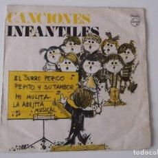 Discos de vinilo: CORO DE LAS ESCUELAS AVEMARIANAS - CANCIONES INFANTILES - EL BURRO PERICO. Lote 140937106