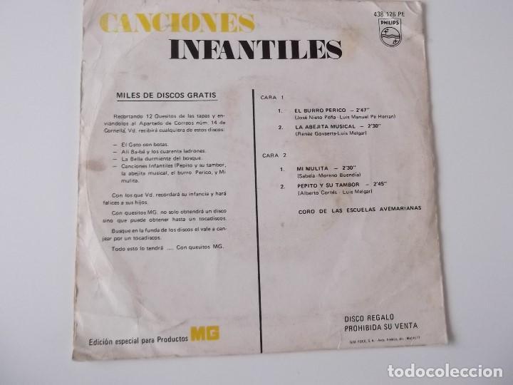 Discos de vinilo: CORO DE LAS ESCUELAS AVEMARIANAS - CANCIONES INFANTILES - El burro Perico - Foto 2 - 140937106