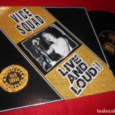 Discos de vinilo: VICE SQUAD LIVE AND LOUD!! LP 1988 LINK RECORDS EDICION UK. Lote 140940758