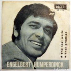 Discos de vinilo: VINILO SINGLE ENGELBERT HUMPERDINCK, THE LAST WALTZ, THAT PROMISE. Lote 140943798