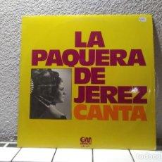 Discos de vinilo: LA PAQUERA DE JEREZ. Lote 140964050