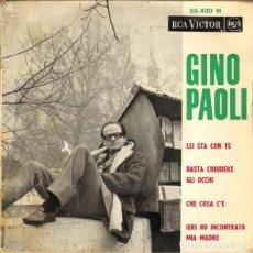 Discos de vinilo: GINO PAOLI : LEI STA CON TE, CHE COSA C'E + 2 ORQUESTA ENNIO MORRICONE ED. FRANCESA RCA. Lote 140998386