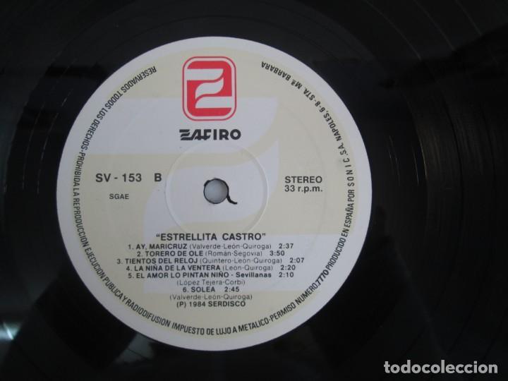 Discos de vinilo: ESTRELLITA CASTRO. LP VINILO. ZAFIRO. 1984. VER FOTOGRAFIAS ADJUNTAS - Foto 7 - 141003218
