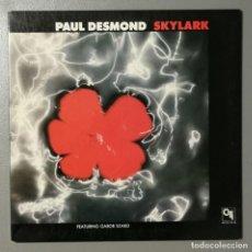 Discos de vinilo: NUMULITE LP 0018 PAUL DESMOND SKYLARK FEATURING GABOR SZABO. Lote 141048534