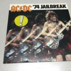 Discos de vinilo: AC/DC 74 JAILBREAK. Lote 142800793