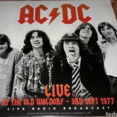 Discos de vinilo: LP - AC / DC - LIVE AT THE OLD WALDORF 3RD SEPT 1977 - NUEVO Y PRECINTADO- MADE IN HOLLAND- AC DC. Lote 141124305
