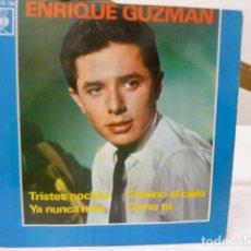 Discos de vinilo: ENRIQUE GUZMAN -TRISTES NOCHES-Y 3 MAS . Lote 141152666