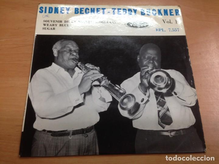 EP SIDNEY BECHET- TEDDY BUCKNER /SOUVENIR DE LA NOUVELLE- ORLEANS-WEARY BLUES- SUGAR (Música - Discos de Vinilo - EPs - Jazz, Jazz-Rock, Blues y R&B)