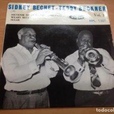 Discos de vinilo: EP SIDNEY BECHET- TEDDY BUCKNER /SOUVENIR DE LA NOUVELLE- ORLEANS-WEARY BLUES- SUGAR. Lote 141191790