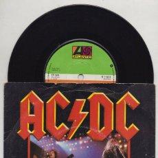 Discos de vinilo: AC/DC ROCK AND ROLL AIN'T NOISE POLLUTION 1980 ORIGINAL UK SINGLE ATLANTIC K1163. Lote 141195218