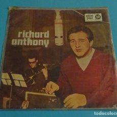 Discos de vinilo: RICHARD ANTHONY CON ORQUESTA Y LOS ÁNGELES. DIR. CHRISTIAN CHEVALLIER. EDICIÓN ARGENTINA. Lote 141213546
