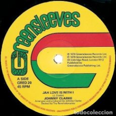 Discos de vinilo: JOHNNY CLARKE ‎– JAH LOVE IS WITH I / BAD DAYS ARE GOING 2018 GREENSLEEVES RECORDS. Lote 141228806