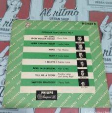 Discos de vinilo: POPULAR FAVORITES NO I. Lote 141241238